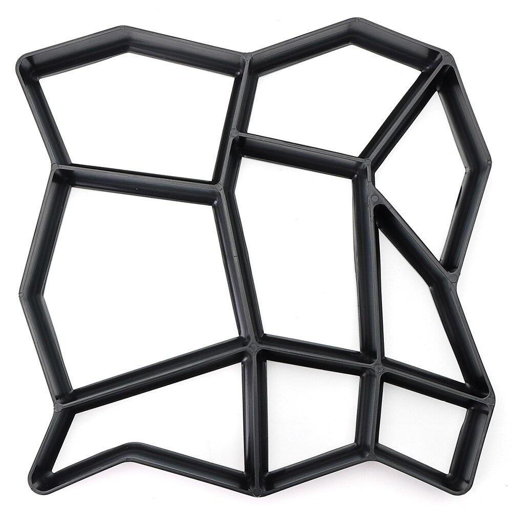 36*36 cm Tuinpad Maker Vorm Onregelmatige Model Beton Stepping Stone Cement Mal Baksteen DIY Huis Tuin Gereedschap 5