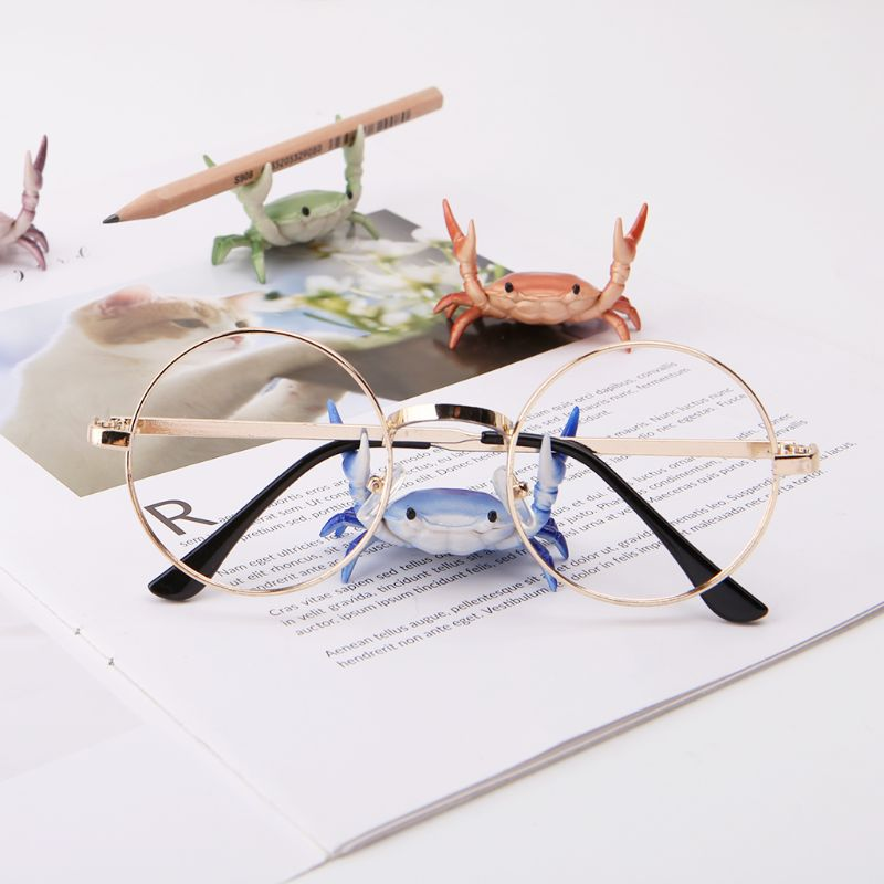 Creative Pen Holder Office Accessories Cute Crab Pencil Holder Japanese Weightlifting Crabs Penholder organizador Pen Stand Hold in Pen Holders from Office School Supplies