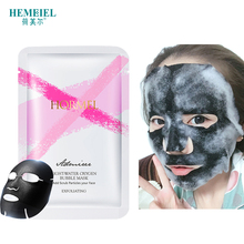 лучшая цена HEMEIEL Detox Oxygen Bubble Mask Facial Moisturizing Bamboo Charcoal Black Face Mask Sheet Whitening Skin Care Treatment Mask