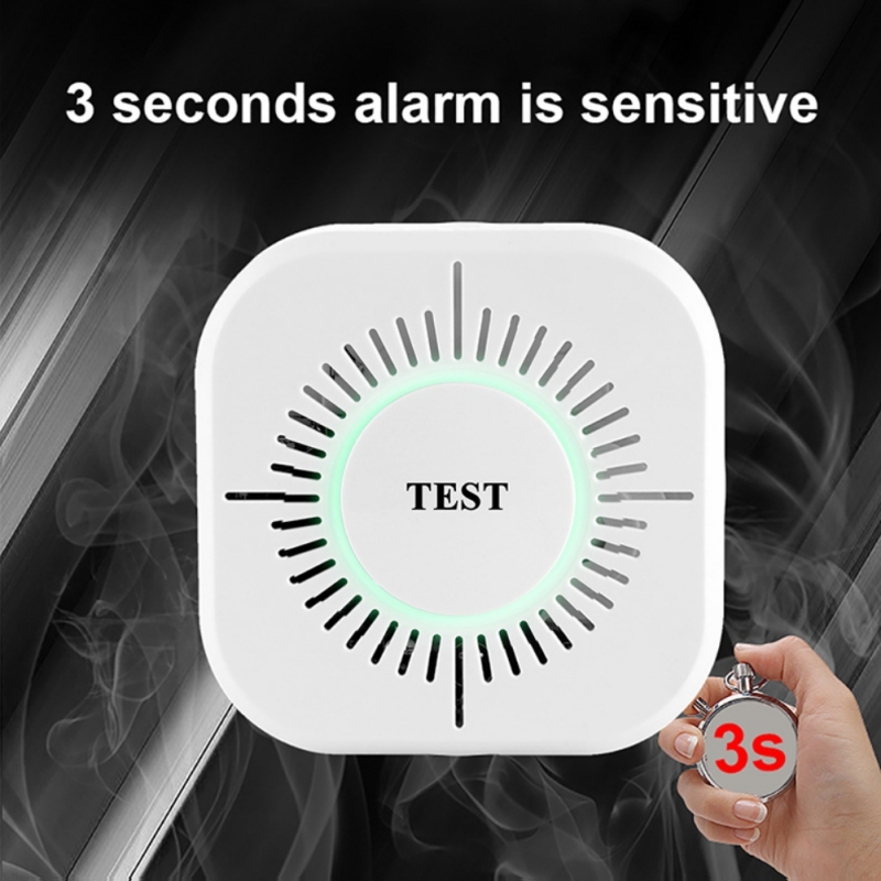 Wireless 433MHz Fire Security Alarm  360 Degree All-around Smoke Detector Protection Alarm Sensor For School Home Factory