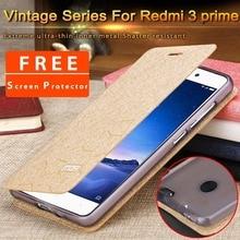 xiaomi redmi 3 pro cover xiaomi redmi 3 pro case leather flip silicone back cover mofi inner thin metal shockproof capa coque