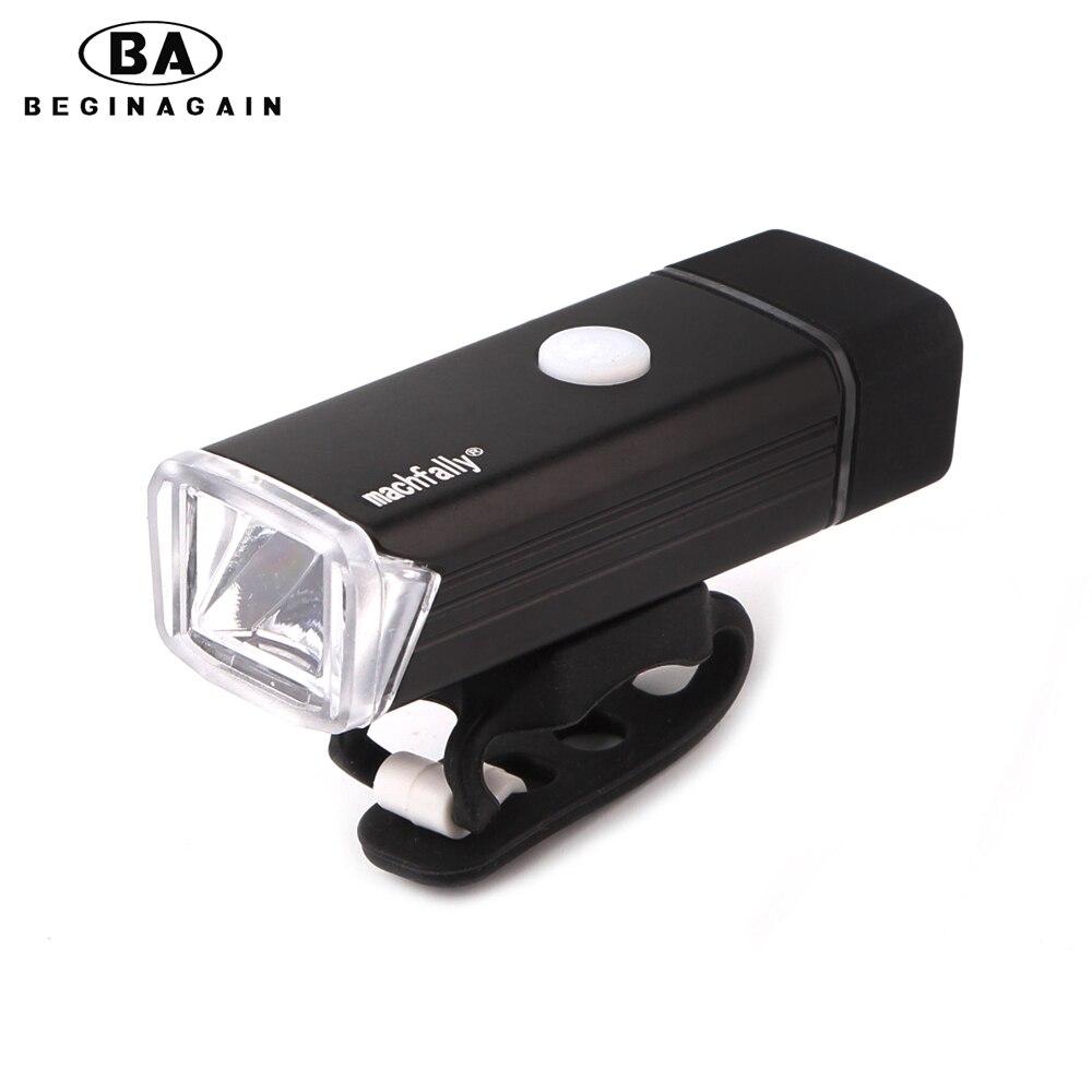 BEGINAGAIN Aleación De Aluminio De Bicicletas Luz Delantera USB Recargable 4 Mod