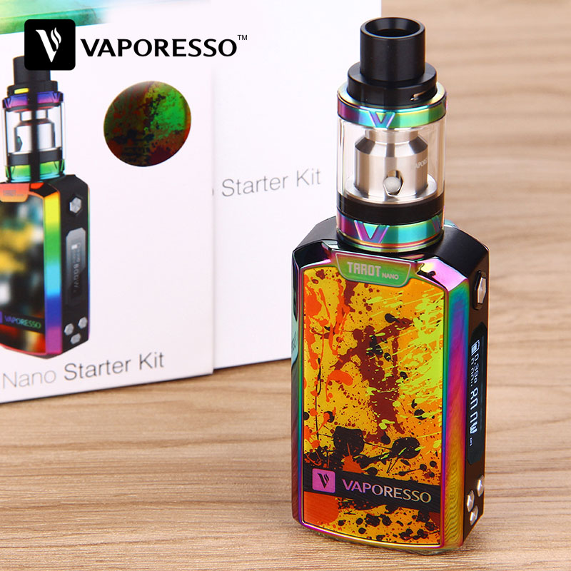 Genuine 80W Vaporesso Tarot Nano TC Kit 2500mAh With VECO EUC Tank 2ml Tarot MOD 80W