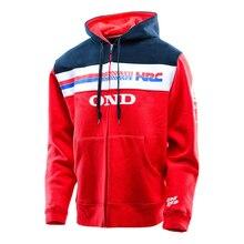 Free transport 2016 Men's Team HRC For Honda Zip Up Hoodie Red Motorcycle Bike Men's Casual Suit Racing Hoodies