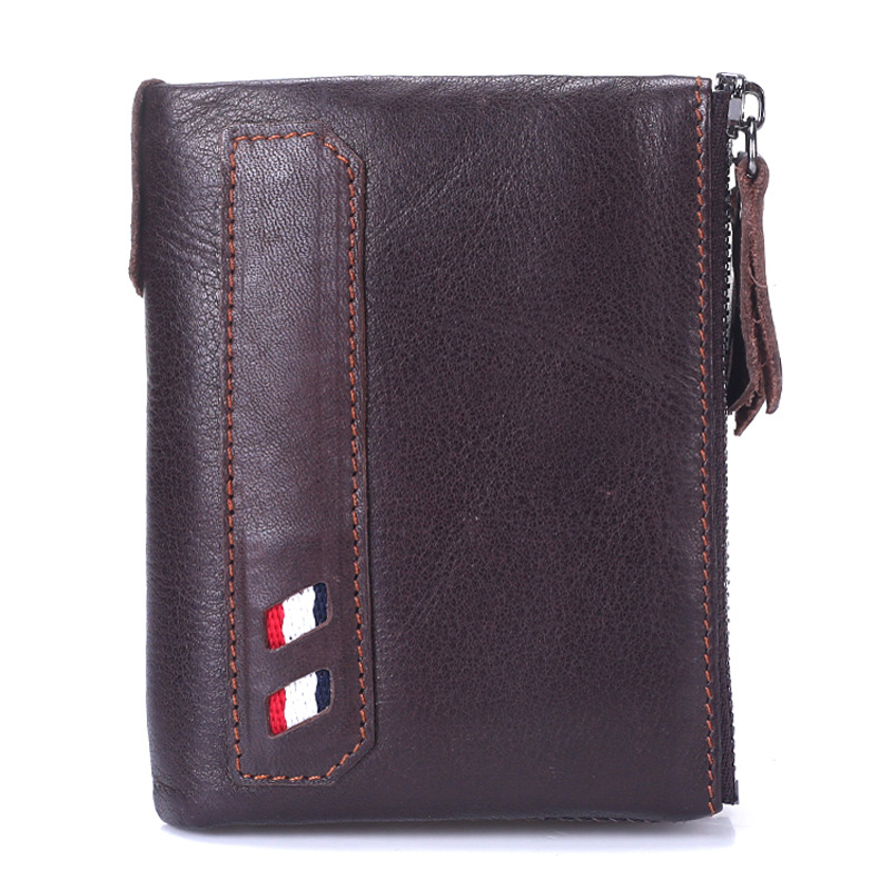 HOT 100% Genuine Crazy Horse Cowhide Leather Men Wallet Short Coin Purse Small Vintage Wallet Brand High Quality Designer slymaoyi 2017 genuine crazy horse leather men wallet short coin purse small vintage wallets brand high quality designer carteira