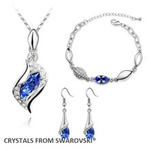 2015 hot sale  Wedding jewelry sets quality necklace set Crystals from Swarovski Christmas Gift