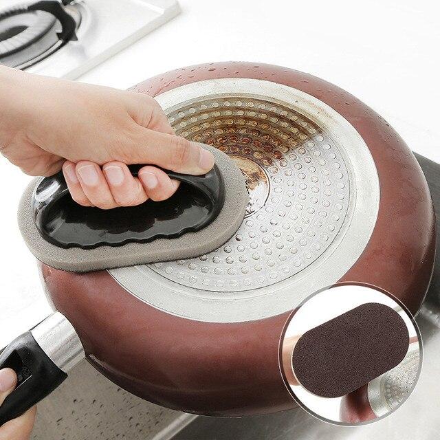 Éponge de cuisine en sable de diamant | Détartrage, nettoyage de casserole magique, brosse de nettoyage de fenêtres, éponge avec protège-mains, accessoires de cuisine
