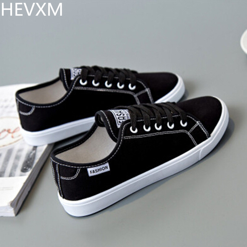 HEVXM 2017 autumn new ladies fashion flat casual canvas shoes female students wild comfortable breathable little white shoes fashion embroidery flat platform shoes women casual shoes female soft breathable walking cute students canvas shoes tufli tenis