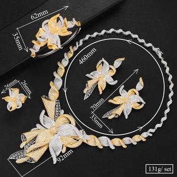 GODKI Famous Brand Charms Lariat Choker Luxury Statement Dubai Jewelry Sets For Women CZ Zircon Wedding Bridal Jewelry Sets 2019 1