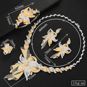DAZZ Jewellery- 4Pcs Choker Zircon Bridal Set