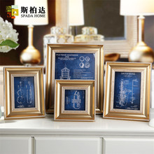 European Style Photo Frame Picture Frame 4/6/7/10Inch Vintage Photo Frame for Picture Marcos Para Fotos Plastic Frame for Family