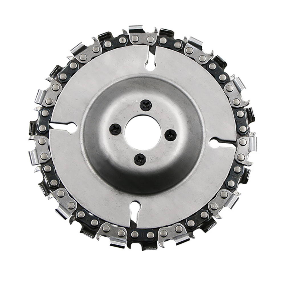 4 Inch Carbide Chain Grinder Chain Saws Disc Woodworking Chain Plate Tool Multi-functional Wood Carving Disc Angle Grinding Tool