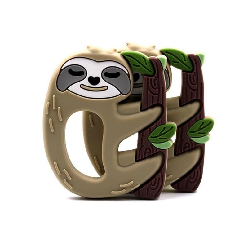 1 Pc Silikon Sloth Charme Bpa Frei Cartoon Tiere Baby Zahnen Diy Halskette Weiche Baby Beißringe Um Eine Hohe Bewunderung Zu Gewinnen Und Wird Im In- Und Ausland Weithin Vertraut.