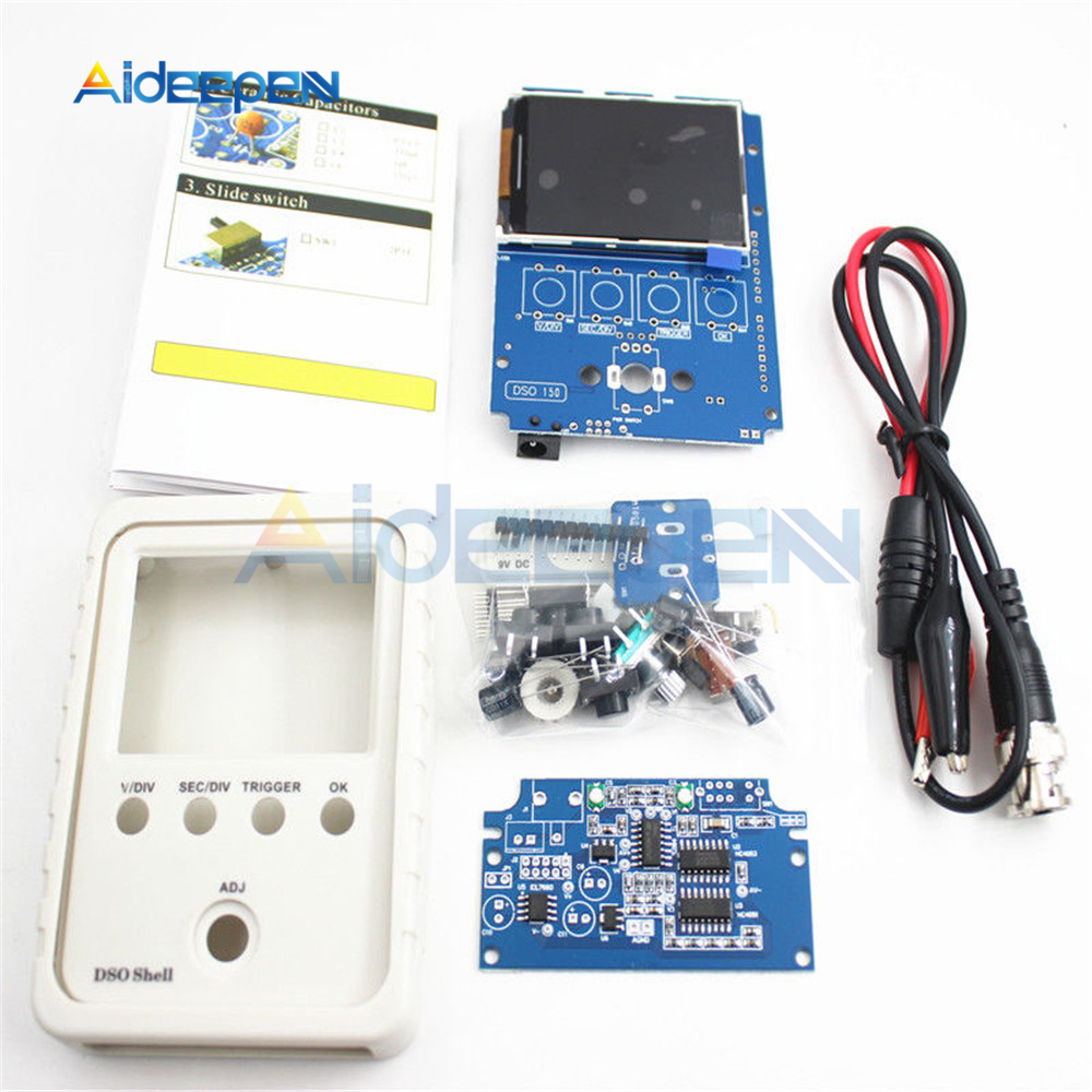Fully Assembled Orignal Tech DS0150 15001K DSO-SHELL (DSO150) DIY Digital Oscilloscope Kit with Housing Case Box Wholesale 6
