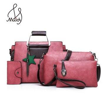 Luxury Casual หญิงกระเป๋าสะพายกระเป๋าหญิง Tote กระเป๋าถือสุภาพสตรี 4 ชิ้นคอมโพสิตกระเป๋าสำหรับกระ