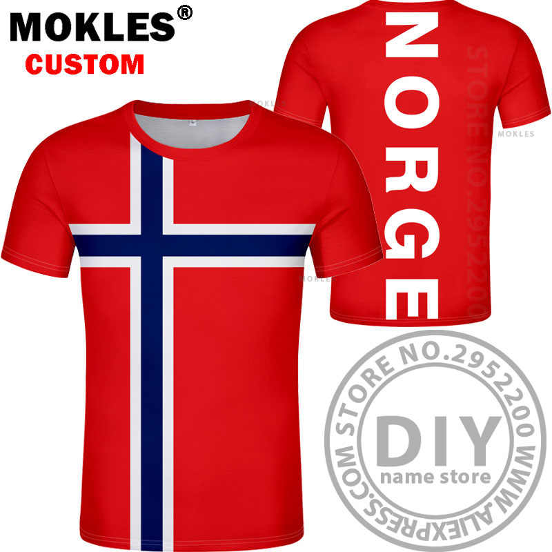 NORWAY t shirt diy free custom made name number nor t-shirt nation flag  norge norwegian kingdom country print photo text clothes