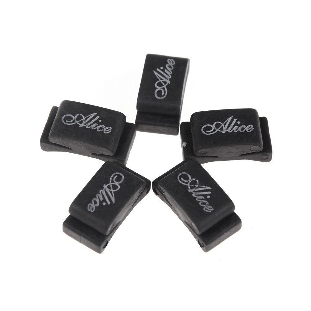 Alice 5pcs Black Rubber Pick Holder Fix on Headstock for Guitar Bass Ukelele