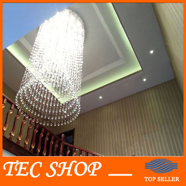 JH Modern Luxury K9 Crystal Chandeliers Villa Penthouse Living Room Staircase Chandelier Crystal Lamp Project Lights Hotel Clubs