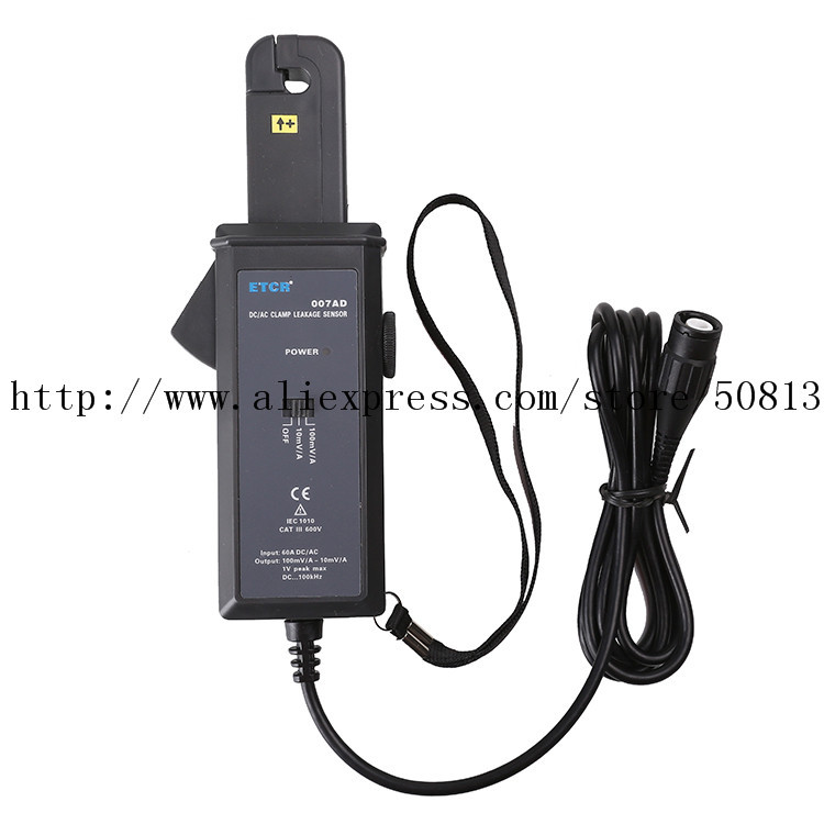 ETCR007AD AC DC Clamp Leakage Current Sensor Probe Sensor ETCR 007AD