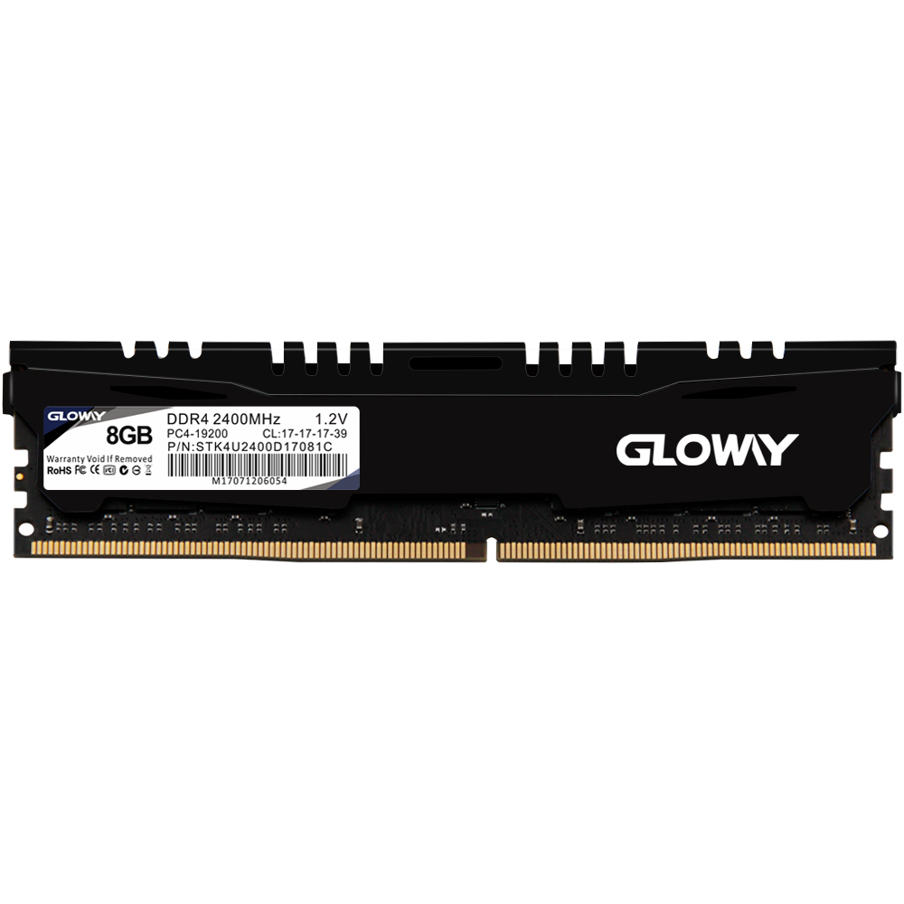 Gloway STK serires ram dimm ddr4 16gb 8gb 2400mhz memoria ram for desktop PC computer lifetime