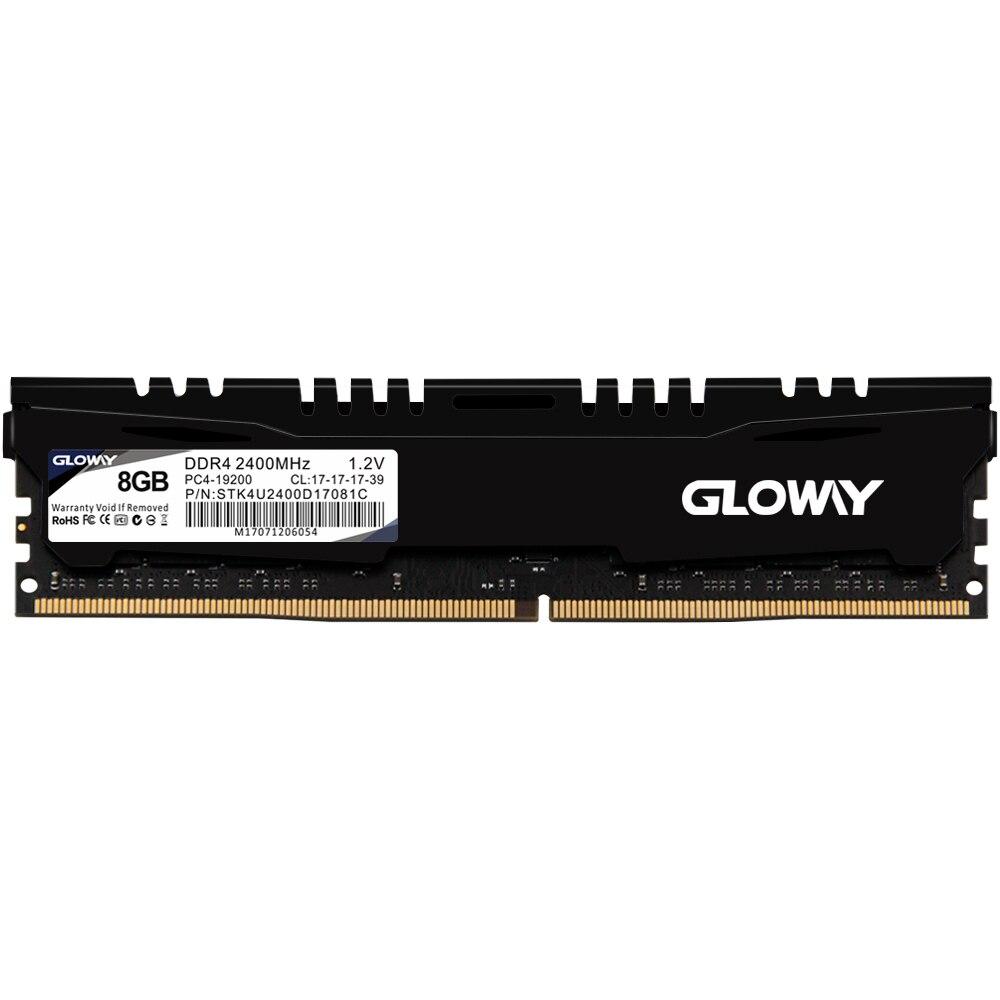 Gloway STK serires ram dimm ddr4 16 gb 8 gb 2400 mhz mémoire vive pour ordinateur de bureau ordinateur garantie à vie