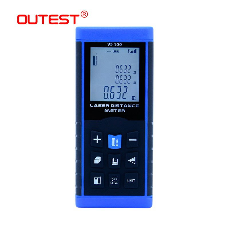 OUTEST Laser Distance Meter tape trena digital distance meter laser electronic level rules laser rangefiner 40M 60M 80M 100M ht 305 ht305 digital laser distance meter prices