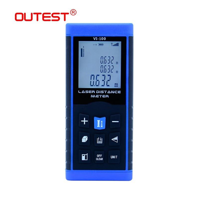 OUTEST Laser Distance Meter tape trena digital distance meter laser electronic level rules laser rangefiner 40M 60M 80M 100M цены