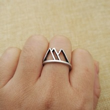 20pcs New Fashion antique silver plated mountain jewelry cute Mountain Ring For Women Vintage