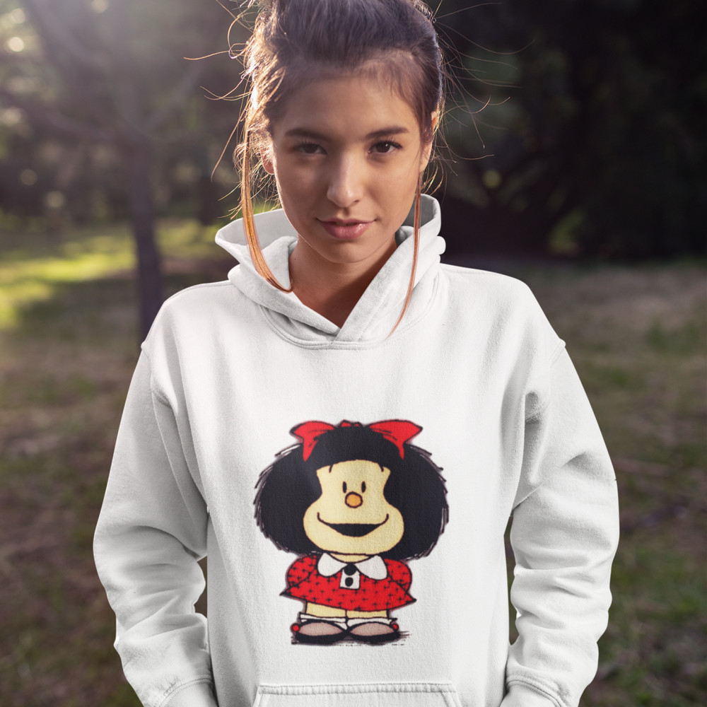 Mafalda Hoodie Phone Cases Skins Mafalda Hoodies Navy Blue Sexy Hoodies Women Over Size Long Sleeve Street Wear Pullover Hoodie
