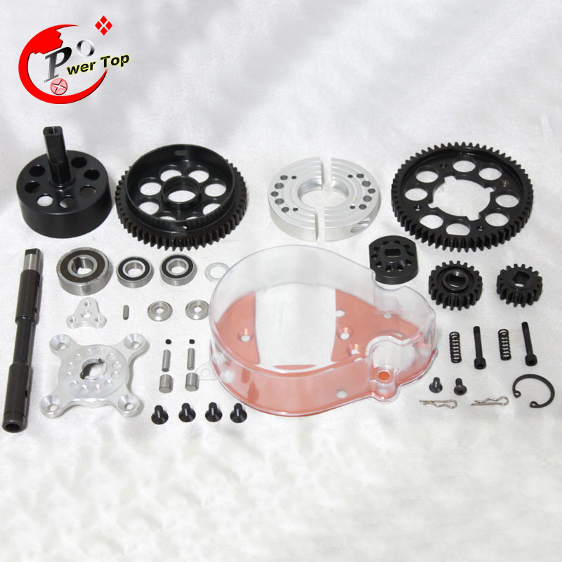 King Motor Baja 2 speed system kits for HPI Baja 5B Parts Rovan king motor baja 5b alloy gear box for hpi baja 5b parts rovan free shipping