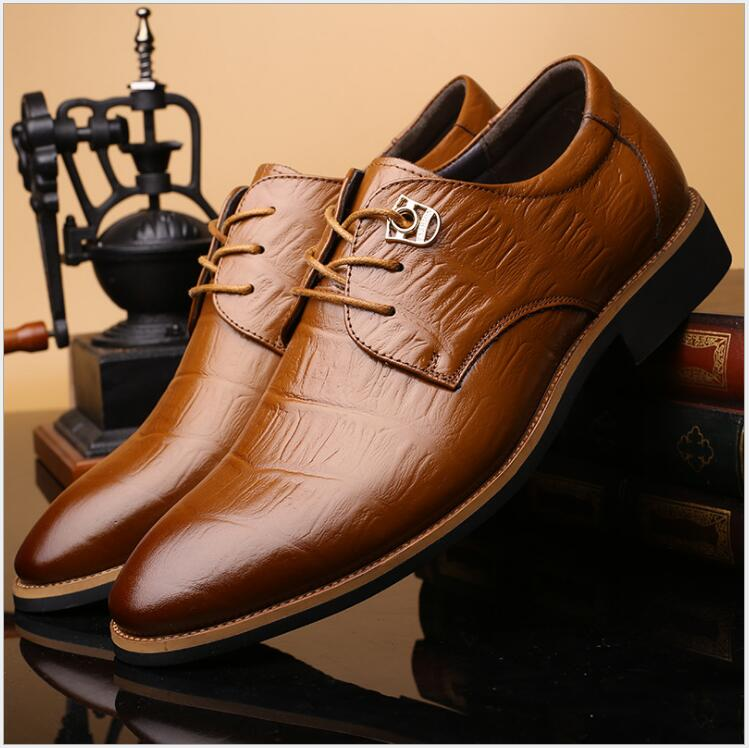NEW Genuine Leather Men Oxfords Spring/Autumn Men Casual Flat ,Breathable Business Shoes , Hand Made New Fashion Dress Shoes