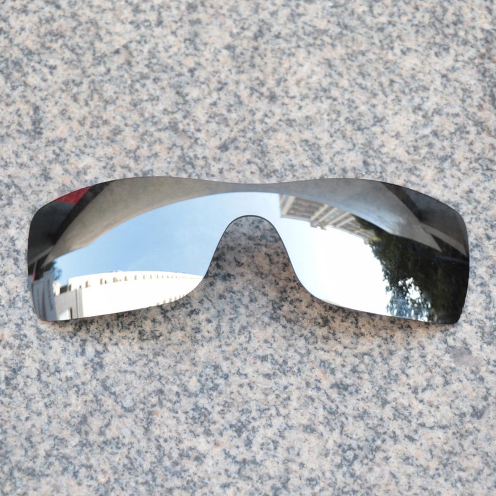 Wholesale E.O.S Polarized Enhanced ReplacementLensesforOakleyBatwolf Sunglasses -Silver Chrome Polarized Mirror