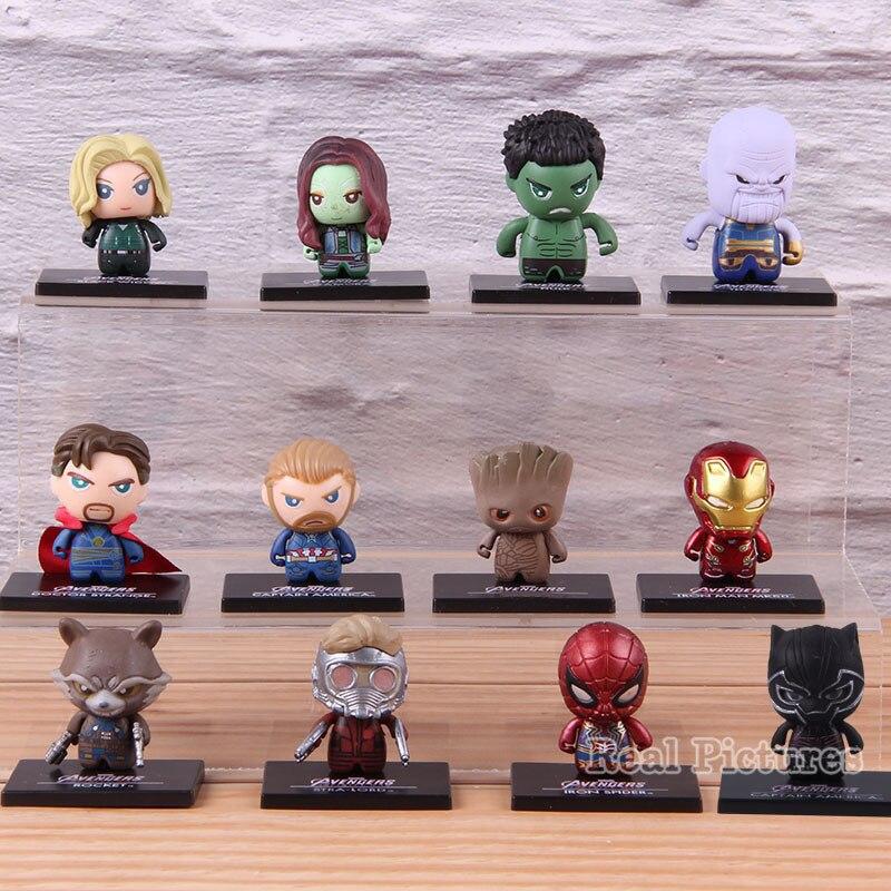12pcs-set-marvel-infinty-war-font-b-avengers-b-font-iron-man-thanos-doctor-strange-black-widow-black-panther-collectible-pvc-model-toy