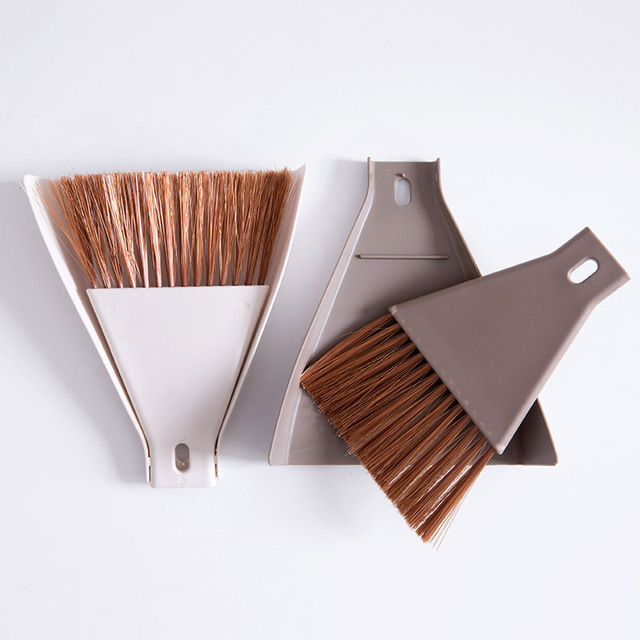 2 pz/set Mini Desktop Scopa e Paletta Set Famiglia Dust Pan e Brush Strumento di