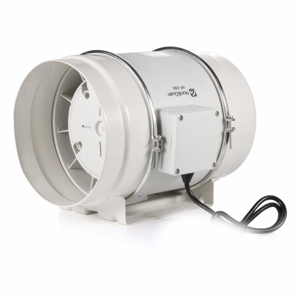 8inch HF-200P Mixed Flow inline duct fan exhaust fan fantech fr 250 inline centrifugal 10 duct fan molded housing ã° 649 cfm