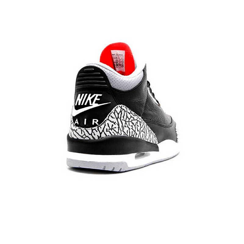 d314950ee578d2 ... Original New Arrival Nike Air Jordan 3 Black Cement AJ3 Men  s  Basketball Shoes Burst