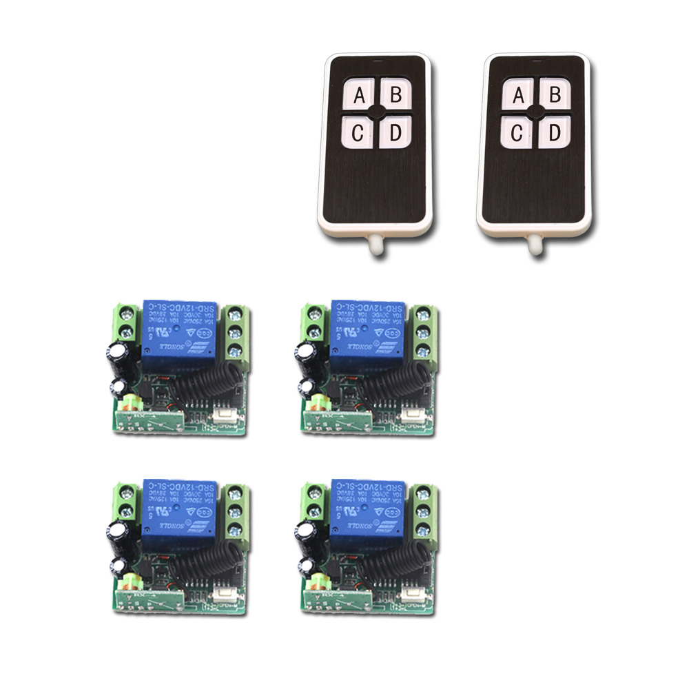 DC 12v 10A 1CH RF Remote Control Switch Mini Wireless Relay Receiver Remote Controller Systerm Transmitter 315Mhz/433MhzDC 12v 10A 1CH RF Remote Control Switch Mini Wireless Relay Receiver Remote Controller Systerm Transmitter 315Mhz/433Mhz