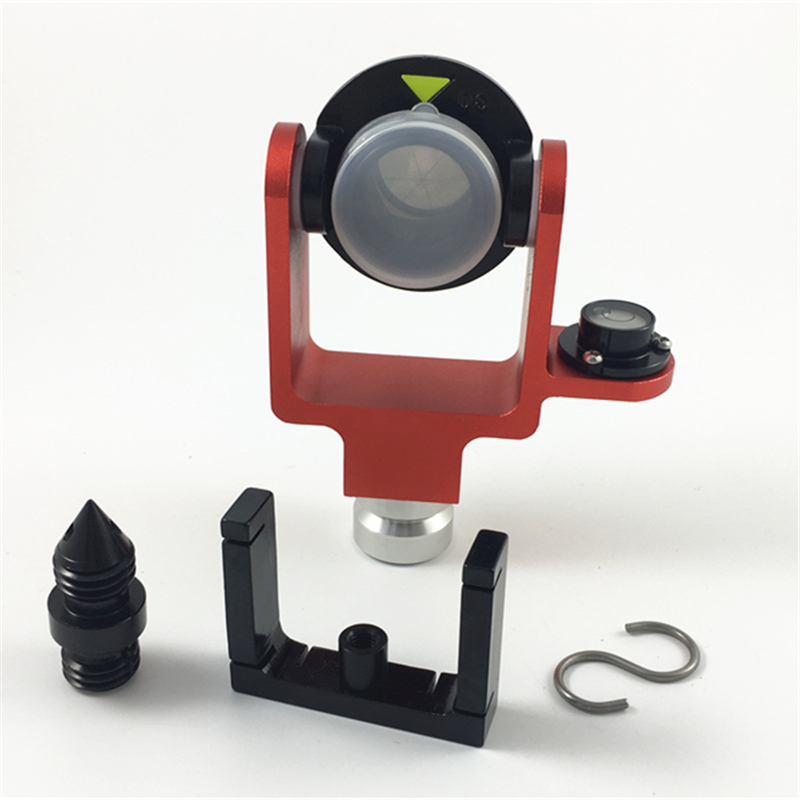 NEW ALL METAL MINI PRISM 0 30 OFFSET W SIDE BUBBLE W SOFT BAG total station