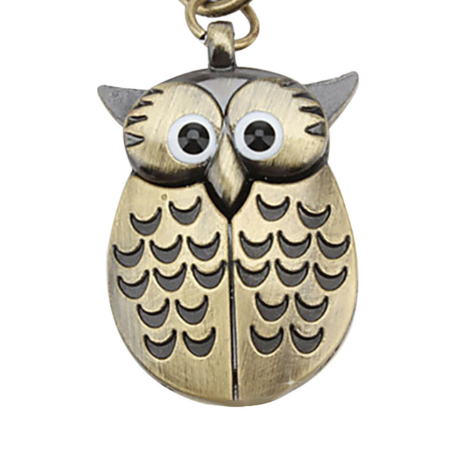 #5001Owl Retro Watch Key Buckle Watch Necklace Pendant Watch Jewelry Quartz Watch DROPSHIPPING New Arrival Freeshipping Hot Sale