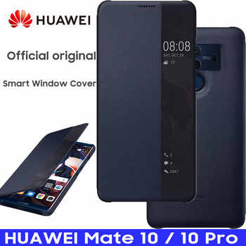 HUAWEI MATE 10 Case 100% Official Original Smart View Cover HUAWEI MATE 10 Pro Case Mirror Window Flip Leather Cover Funda - DISCOUNT ITEM  49% OFF All Category