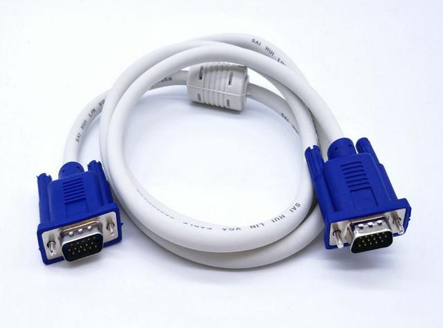 Envío Gratis 2 unids/lote 3 m longitud 3 VGA Cable de paso a paso de alambre VGA/blanco de Vídeo VGA cable