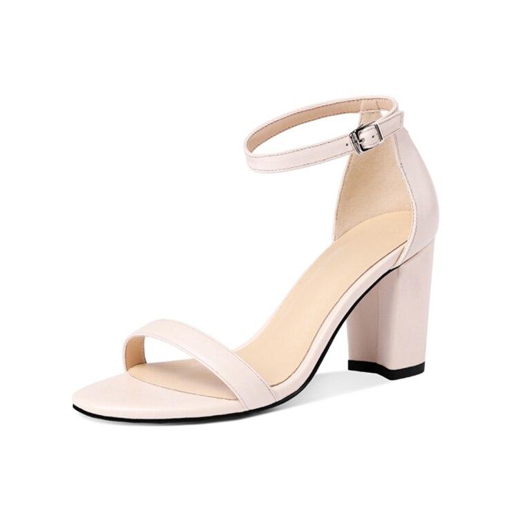 Mljuese Sandalen Größe Echtem Beige Farbe 34 Braun Schnalle 2018 Leder High Gladiator Frauen schwarzes Heels Schuhe Aus 42 OAnqxpIAr
