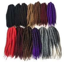 "Luxury For Braiding 12 ""12strands / pack 13colors Kanekalon Crochet Braids Havana Mambo Twist Synthetic Braiding Hair Extensions"