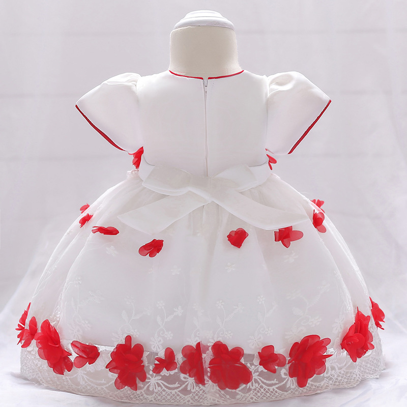 Vintage Baby Dresses 1 2 Year First Birthday Girl Party Infant Dress 2018 Newborn Wedding Baptism Christening Gown For Baby Girl (12)