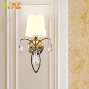 Image 2 - (E14 Glühlampe Für Freies) moderne wand lampe Eisen led wand licht für home/wohnzimmer wandlamp treppen led licht Stoff schatten Wandleuchter