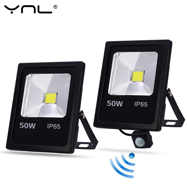Motion Sensor LED Flood Light 10W 30W 50W AC 220V Waterproof IP65 Reflector Floodlight Lamp foco Led Exterior Spot Outdoor Light