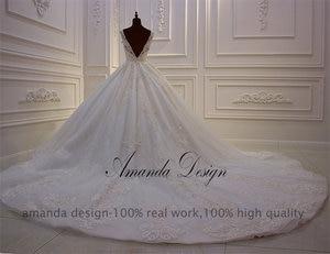 Image 5 - Amanda Design High end Customized Low Cut Deep V Sexy Luxury Backless Wedding Dress