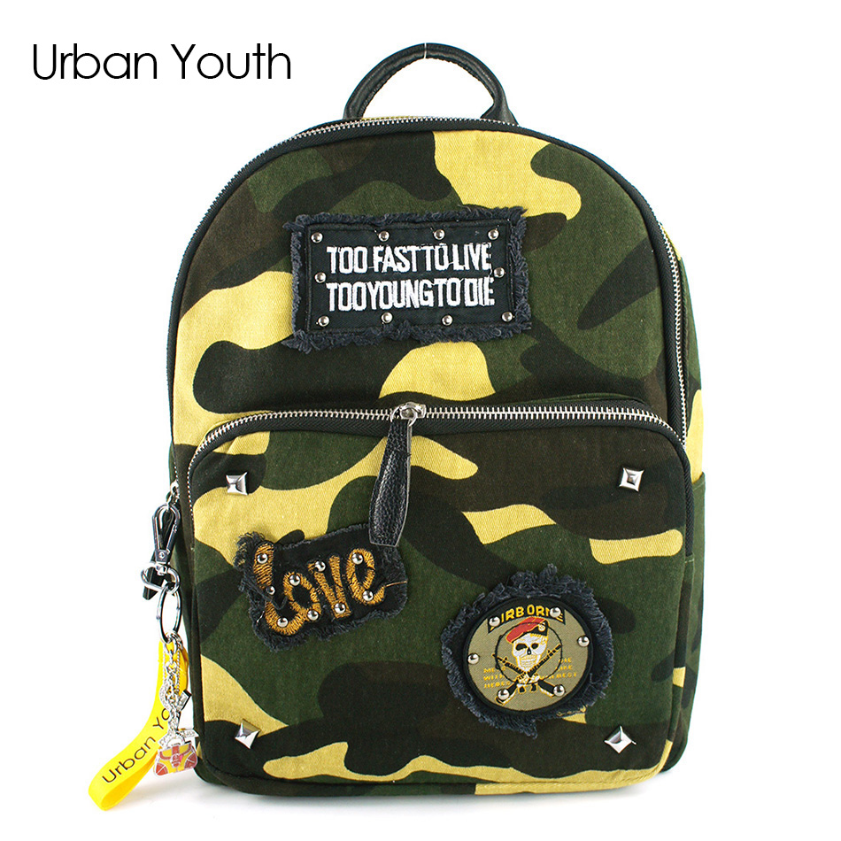 Urban Youth Vintage School Bags for Teenagers Girls Schoolbag Large Capacity Lady Nylon Dot Printing Backpack