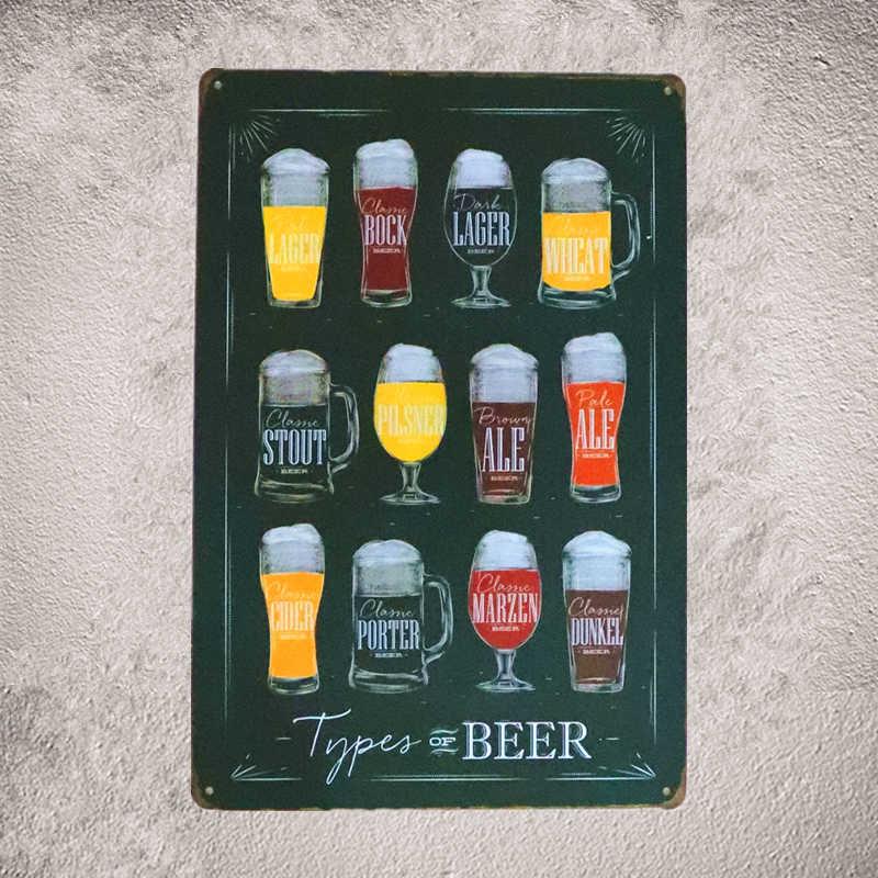 Vintage Tin Sign in Pin up Poster Birrë Paralajmërim jo për tu - Dekor në shtëpi - Foto 3
