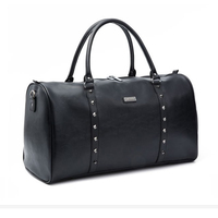 35L Men Travel Bags Hand Luggage Rivets Packing Cubes Business Waterproof Organizadores Male Huge Capacity Pu